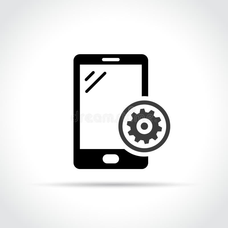 Mobiel telefoon en toestelpictogramconcept royalty-vrije illustratie