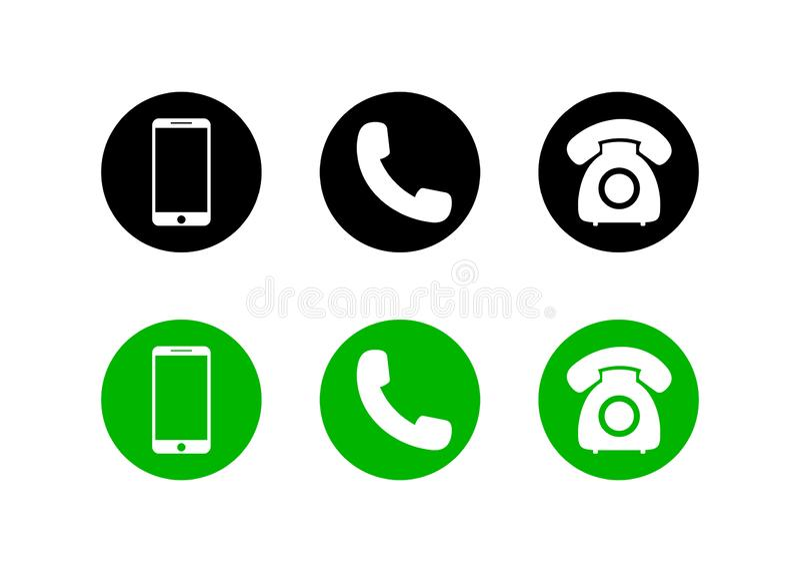 Mobiel telefoonpictogram op geïsoleerde achtergrond Reeks van oproeppictogram en telefoon, slim in vlakke stijl voor Web Vector stock illustratie