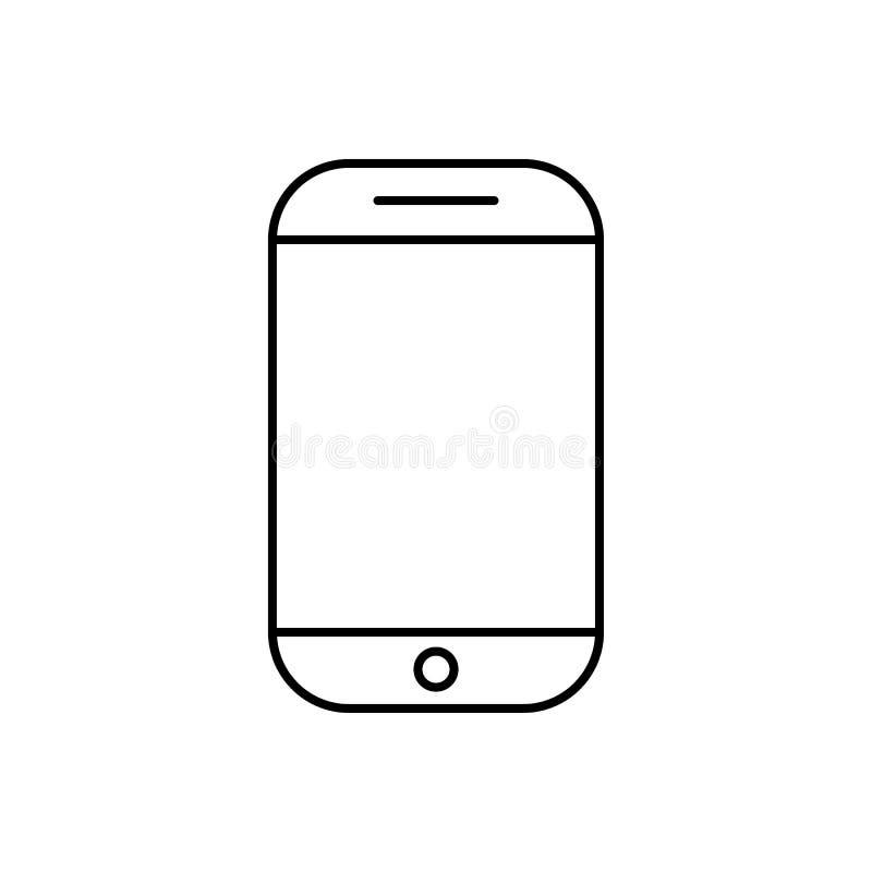 Mobiel telefoonpictogram vector vlak stijlsymbool voor grafisch ontwerp, Website, sociale media, UI, mobiele upp royalty-vrije illustratie