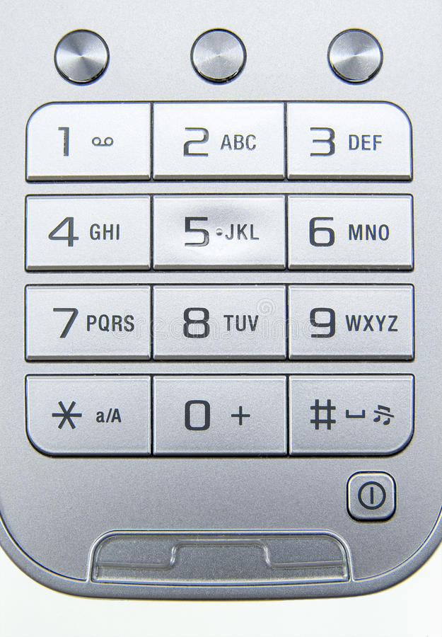 Mobiel telefoontoetsenbord royalty-vrije stock foto