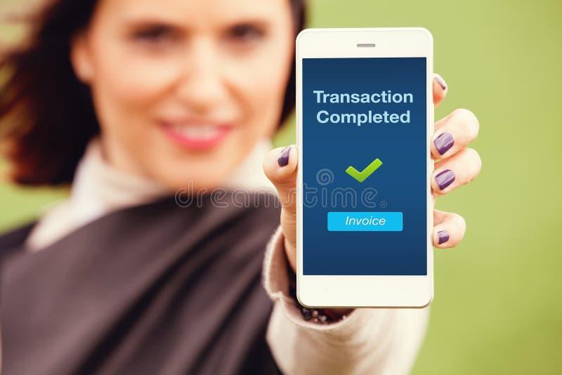 Mobiel transactiebericht stock afbeeldingen