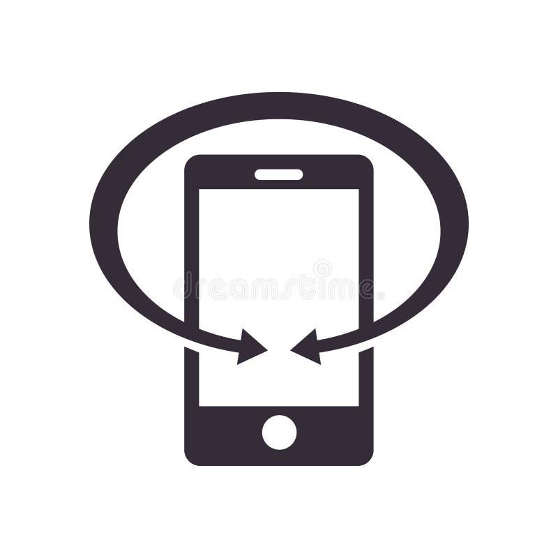 Mobiel van de Bedrijfs telefoontechnologie Symboolontwerp royalty-vrije illustratie