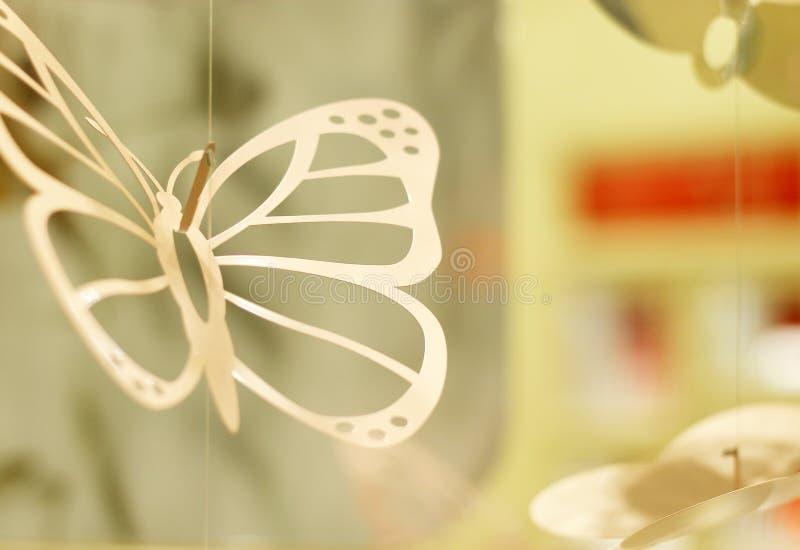 Mobiel van gehangen vlinder royalty-vrije stock afbeeldingen