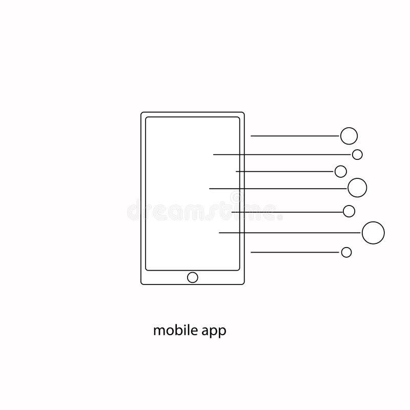 Mobiele app stock illustratie