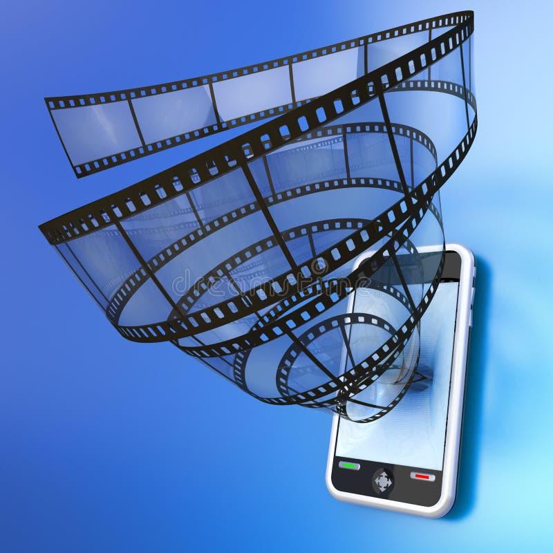 Mobiele apparatenvideo royalty-vrije illustratie