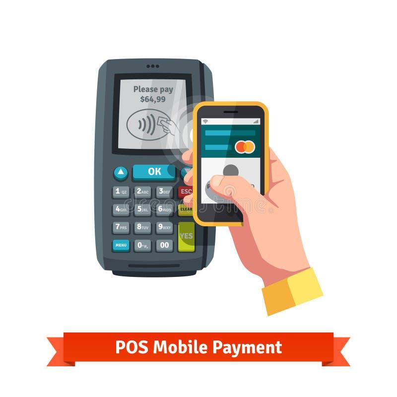 Mobiele betalingstrog POS royalty-vrije illustratie