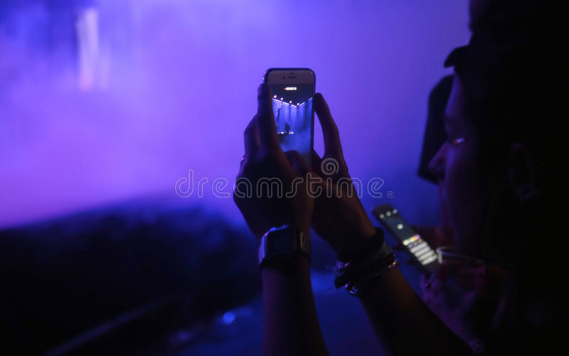 Mobiele camera stock foto