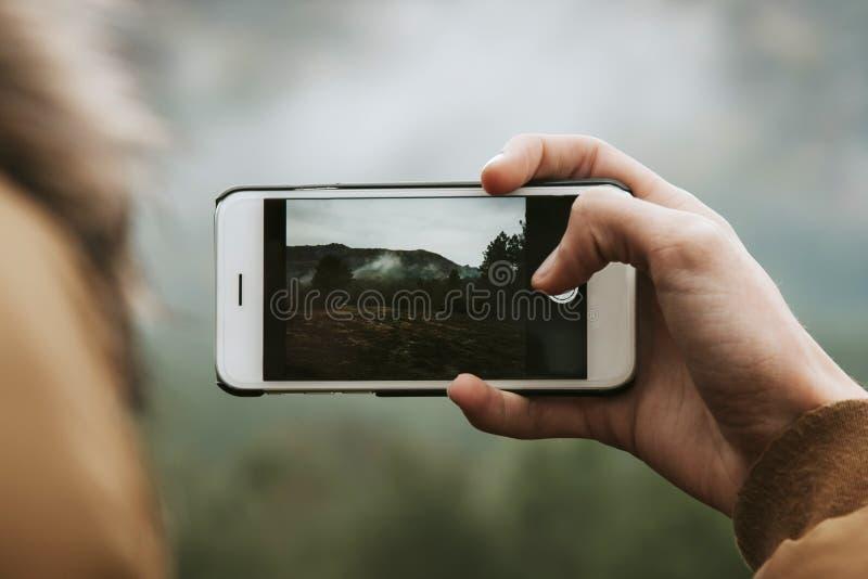 Mobiele cameratelefoon stock afbeeldingen