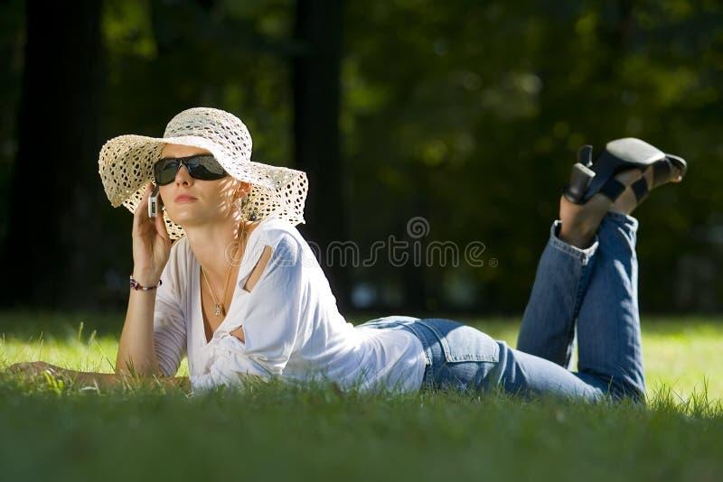 Mobiele de zomer stock afbeelding