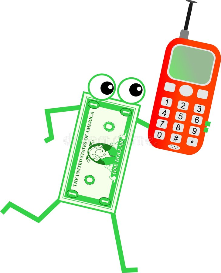 Mobiele dollar stock illustratie