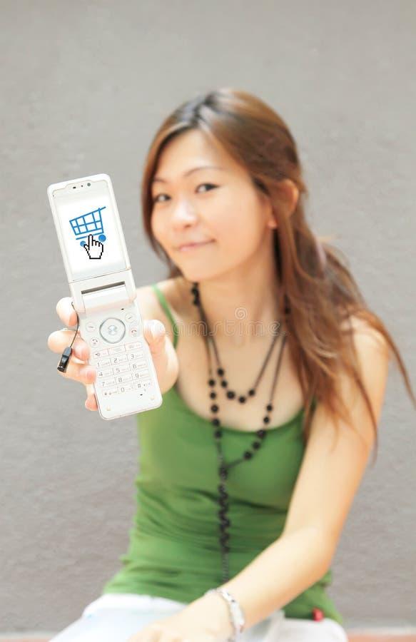 Mobiele Elektronische handel vector illustratie