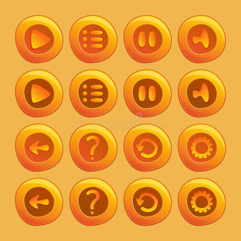 Mobiele elementen voor Ui-Spel royalty-vrije illustratie