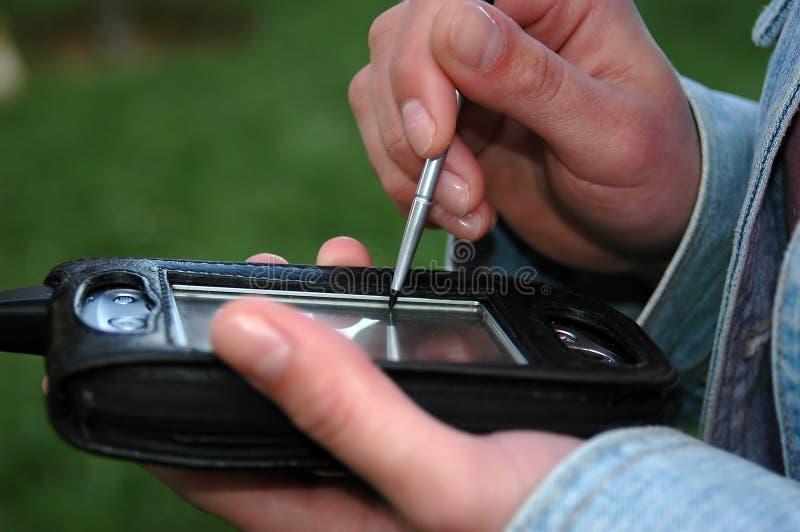 Mobiele gegevens stock foto's