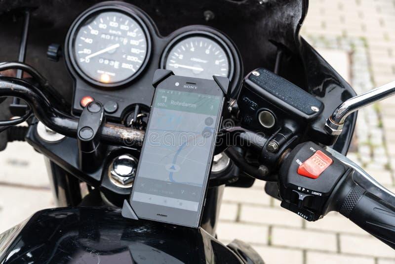 Mobiele GPS Navigatie stock afbeeldingen