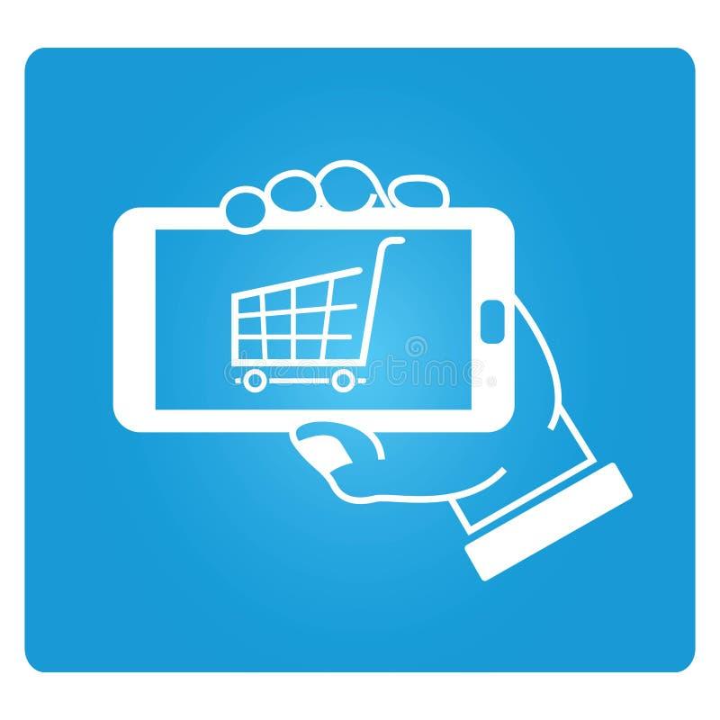 Mobiele handel vector illustratie