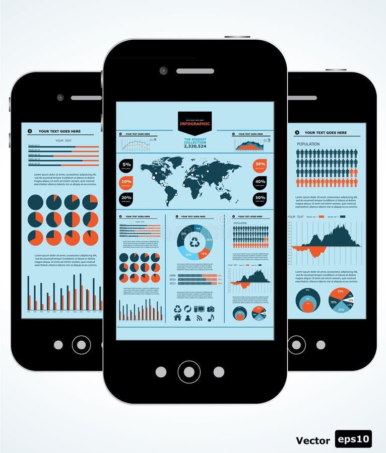 Mobiele infographic. stock illustratie