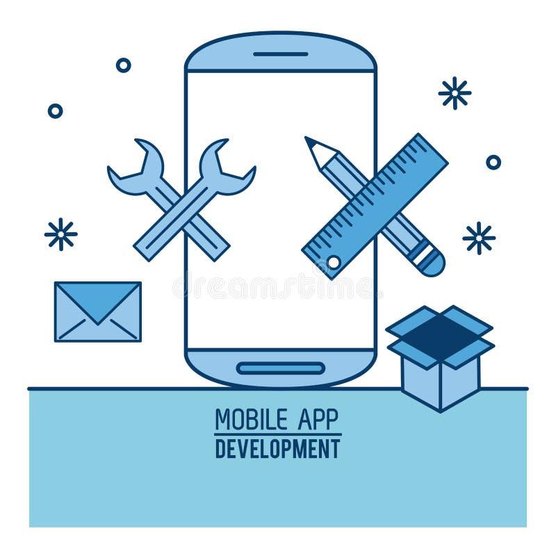 Mobiele infographic app stock illustratie