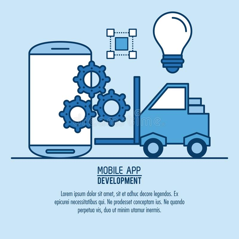 Mobiele infographic app vector illustratie