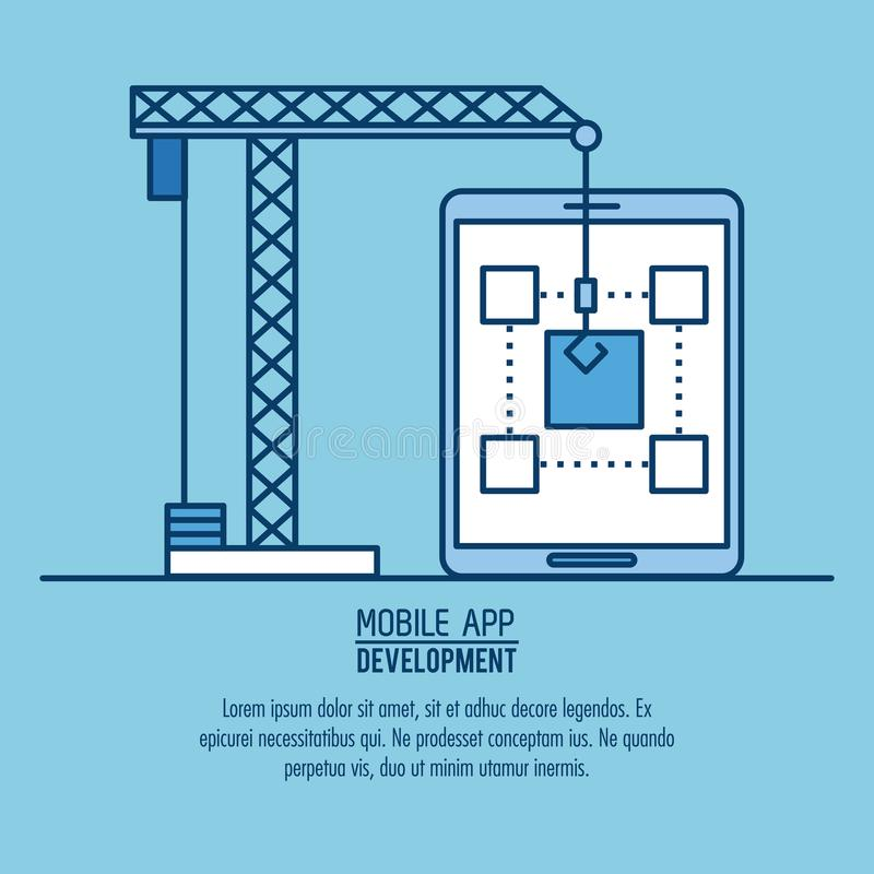 Mobiele infographic app royalty-vrije illustratie