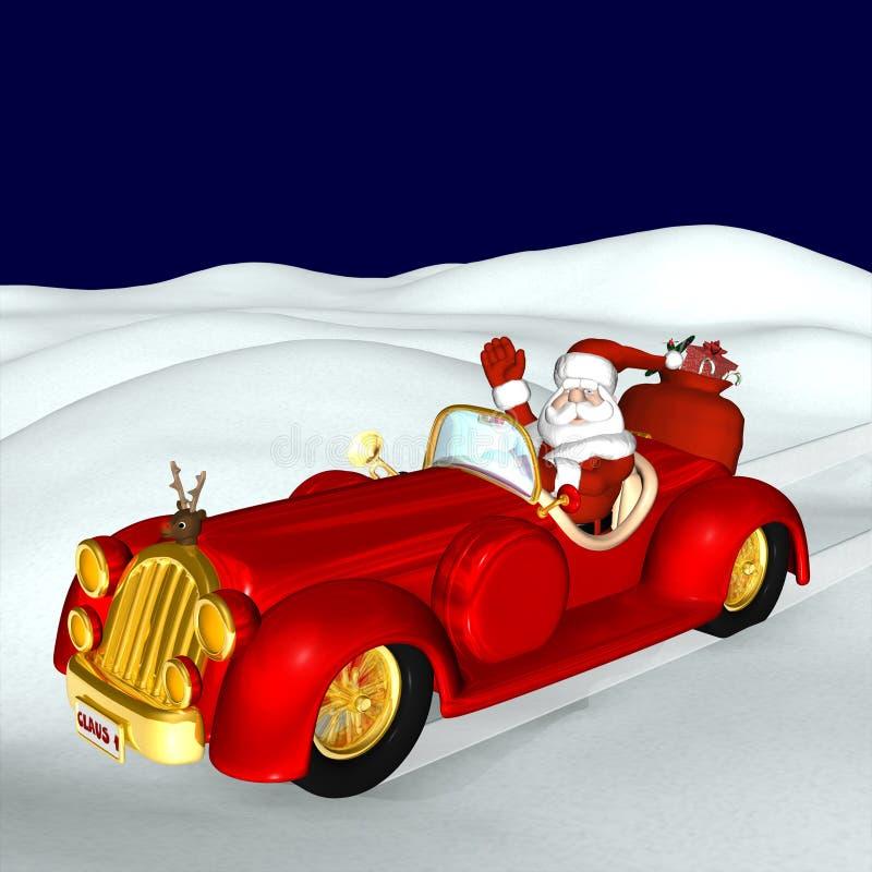 Mobiele kerstman vector illustratie