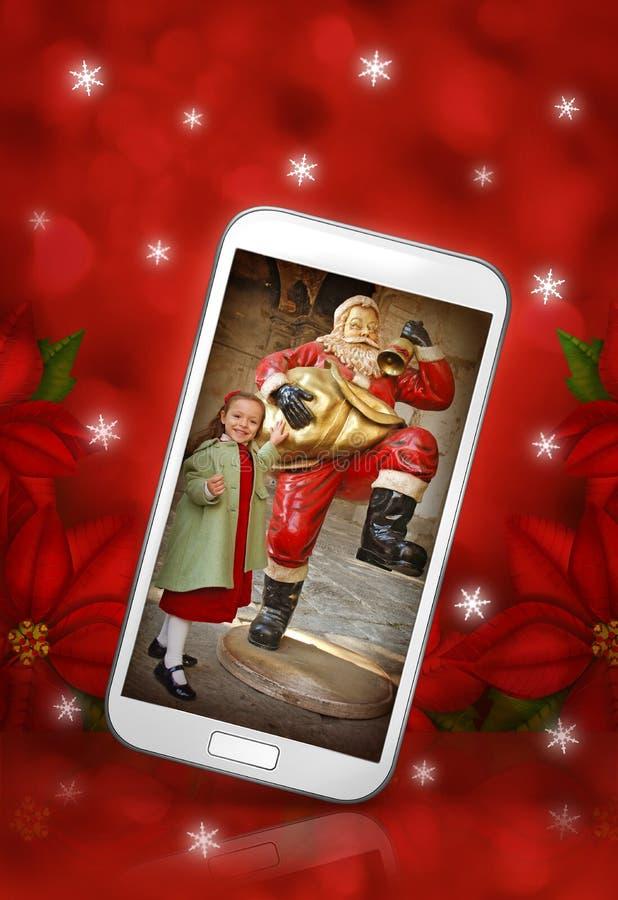 Mobiele Kerstmis stock illustratie
