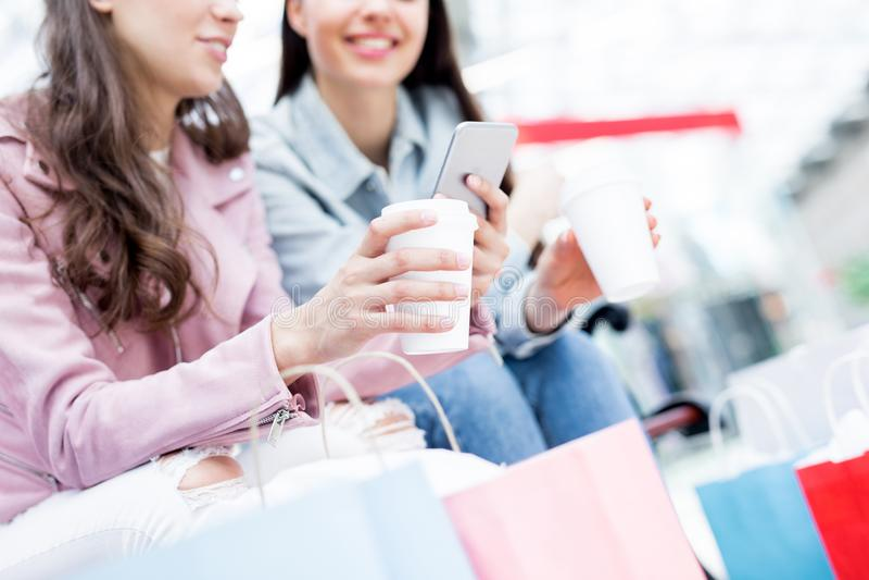 Mobiele klanten stock foto's