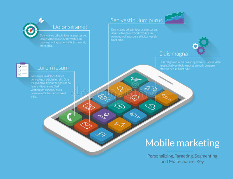 Mobiele Marketing royalty-vrije illustratie