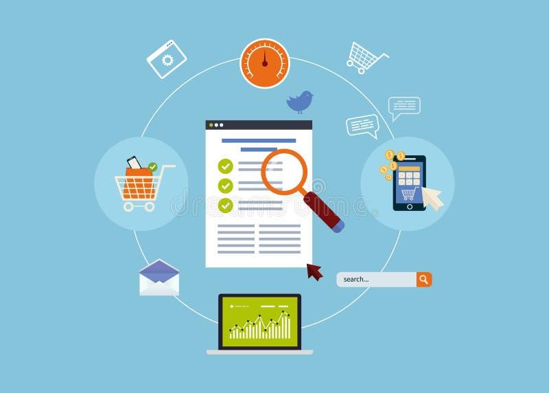 Mobiele marketing elementen royalty-vrije illustratie