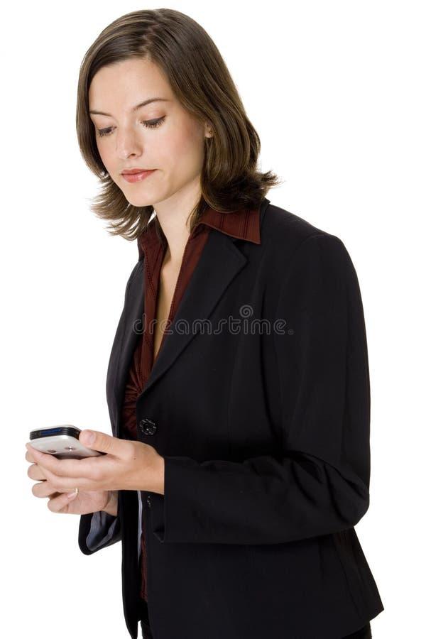 Mobiele Onderneemster Royalty-vrije Stock Fotografie