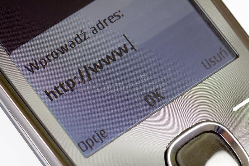 Mobiele Online (technologie van de mededeling) royalty-vrije stock afbeelding