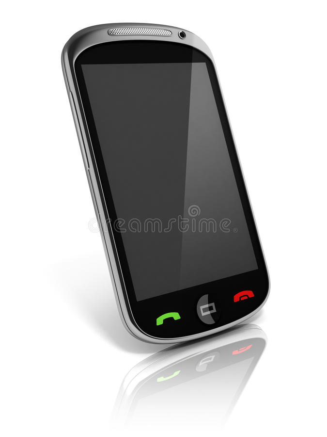 Mobiele slimme telefoon royalty-vrije illustratie