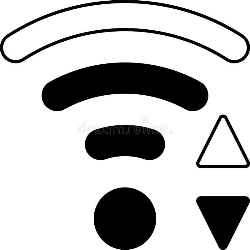 Mobiele Slimme Telefoon WiFi Vectorpictogram vector illustratie