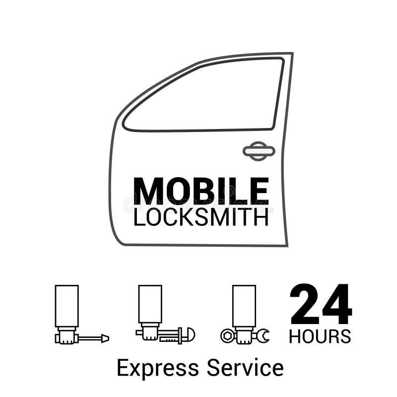 Mobiele slotenmaker Embleem in vector vector illustratie