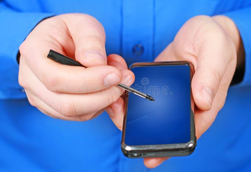 Mobiele telefoon. stock afbeelding