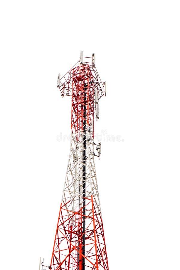 Mobiele telefoon communicatie antennetoren stock afbeelding