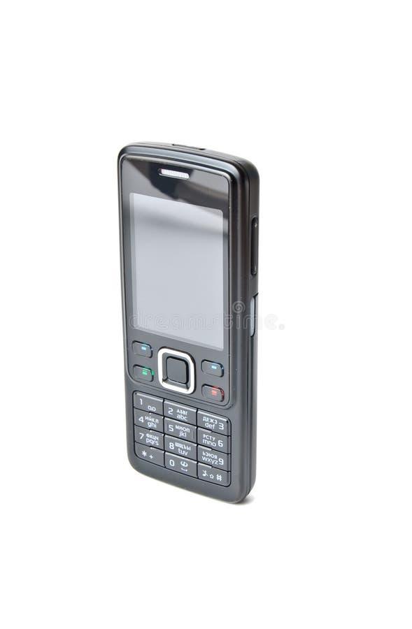 Mobiele telefoon die op wit wordt geïsoleerd stock afbeelding