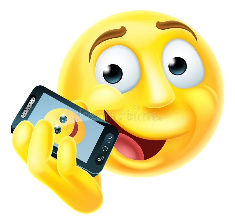 Mobiele Telefoon Emoji Emoticon royalty-vrije illustratie