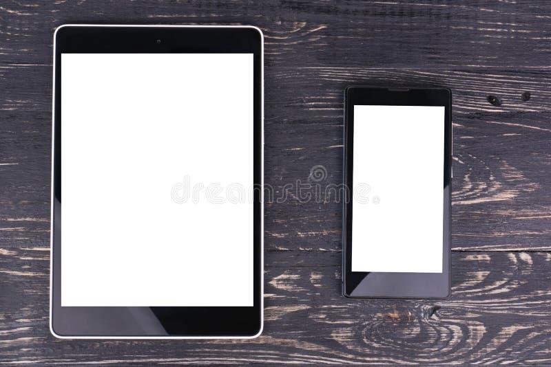 Mobiele telefoon en tabletPC stock foto's