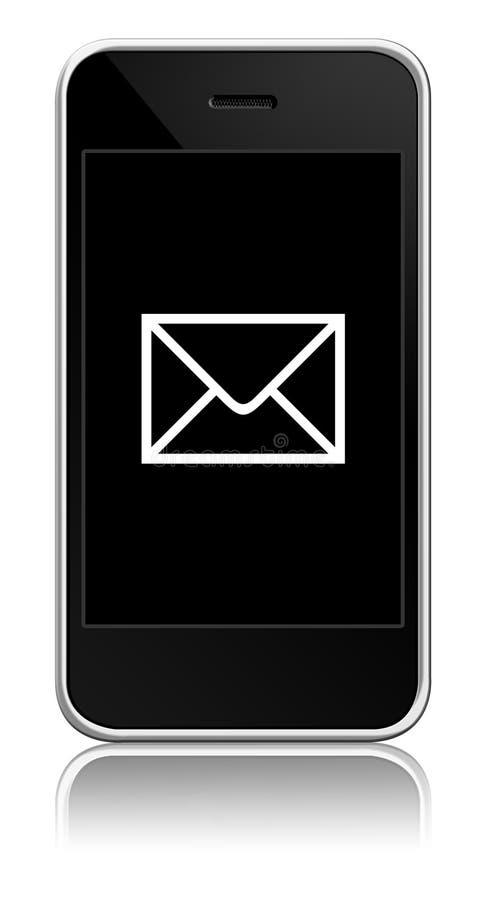 Mobiele telefoon met binnen envelop royalty-vrije illustratie