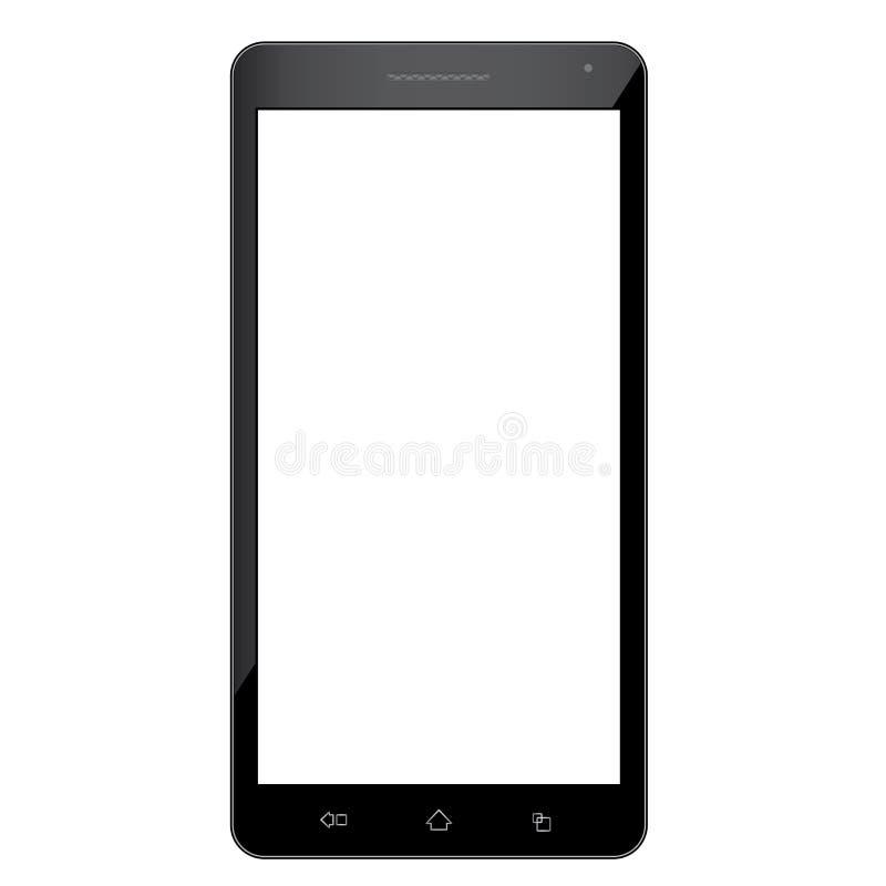 Mobiele telefoon met het lege scherm dat op witte achtergrond wordt geïsoleerde royalty-vrije illustratie