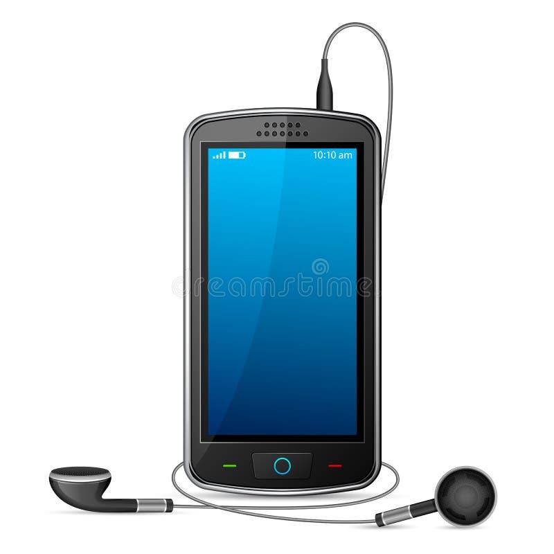 Mobiele Telefoon met Oortelefoon royalty-vrije illustratie