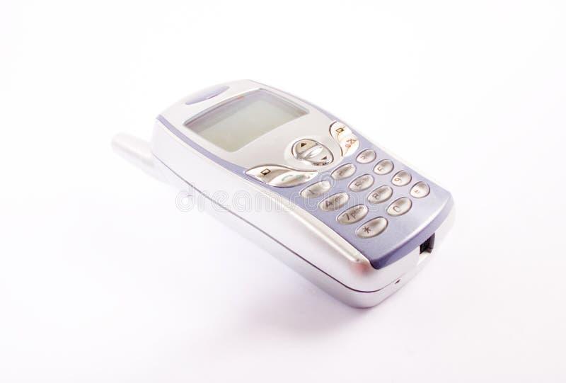 Mobiele telefoon met schaduw stock foto