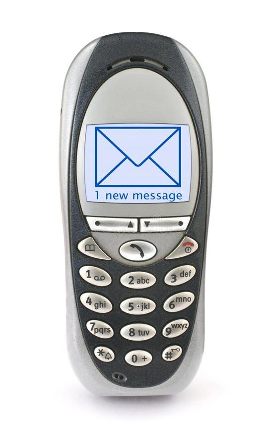 Mobiele telefoon met SMS stock fotografie