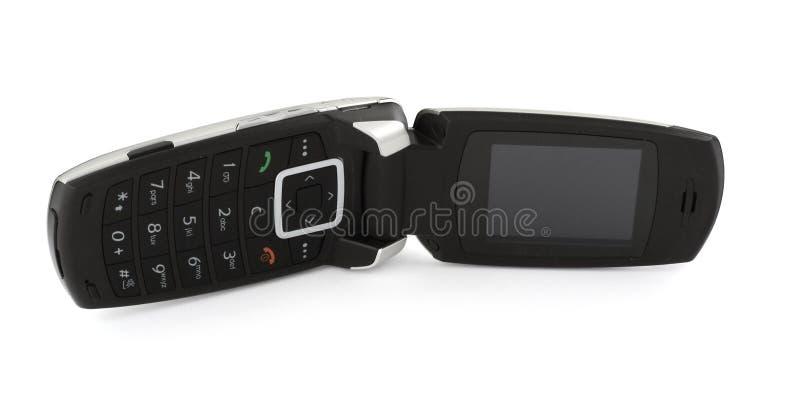 Mobiele telefoon op wit stock afbeelding