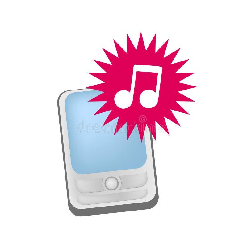 Mobiele telefoon ringtones vector royalty-vrije illustratie