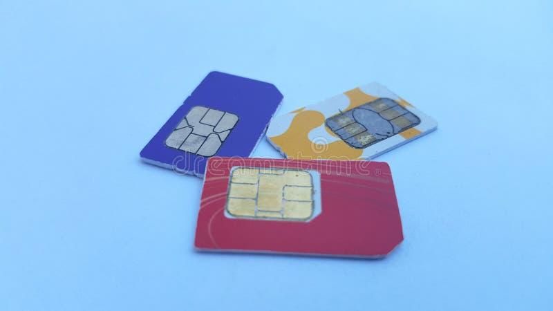 Mobiele telefoon sim kaart, één van de technologieën op het gebied van mededeling royalty-vrije stock foto
