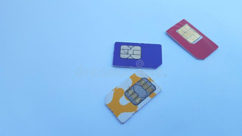Mobiele telefoon sim kaart, één van de technologieën op het gebied van mededeling royalty-vrije stock afbeelding