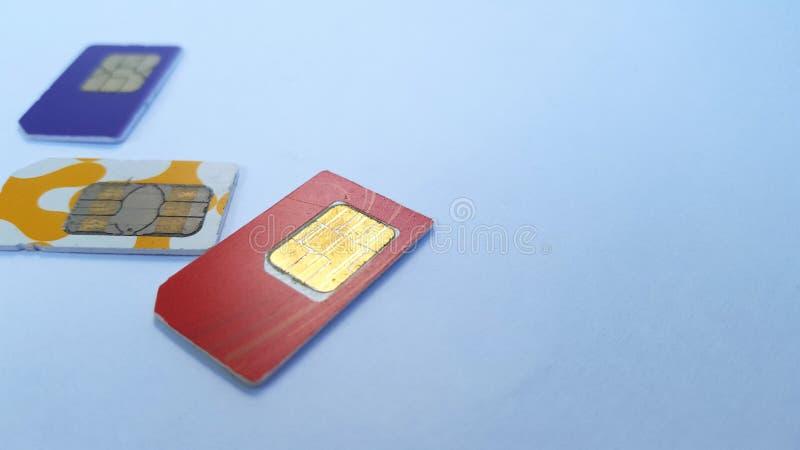 Mobiele telefoon sim kaart, één van de technologieën op het gebied van mededeling royalty-vrije stock foto's