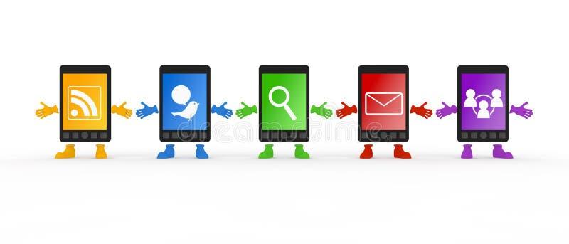 Mobiele Telefoon/Smartphone royalty-vrije illustratie
