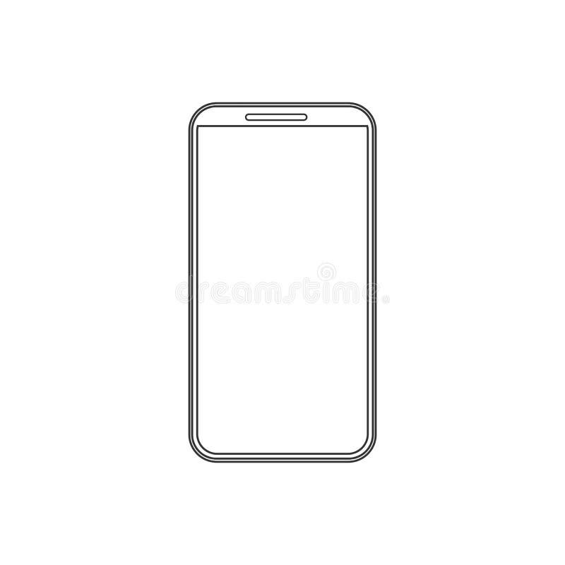 Mobiele Telefoon, smartphonepictogram Vectorillustratie, vlak ontwerp stock illustratie